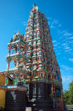 Gopuram Hindu temple in Sri Lanka. Gopuram Hindu temple  island  Sri Lanka against  background  blue sky Royalty Free Stock Image