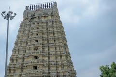 Gopuram Kanchipuram Indien för hinduisk tempel Arkivbilder