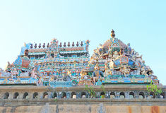 Gopuram lake and water tank in Thillai Nataraja Temple,chidambar Royalty Free Stock Photography