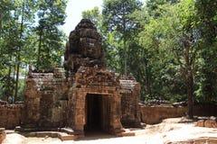 Gopuram occidental au som de ventres dans Angkor Photo libre de droits
