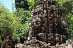 Gopuram occidental au som de ventres dans Angkor Photos stock