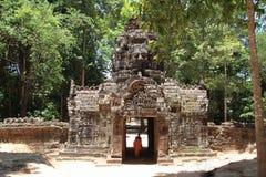 Gopuram occidental en el som de TA en Angkor Fotografía de archivo