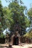 Gopuram oriental au som de ventres dans Angkor Image stock