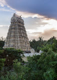 Gopuram of Shiva Temple at Vellore Fort. Royalty Free Stock Images