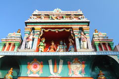 Sri Vadapathira Kaliamman Temple Roof Decoration Royalty Free Stock Image