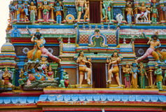 Gopuram with statues of hindu gods in Negombo Stock Images