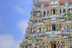 Gopuram, temple d'Indiam Photos stock