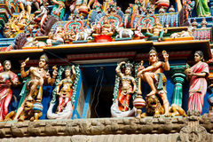 Gopuram (tower) of Hindu temple Royalty Free Stock Photo