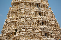Gopuram (tower) of Hindu temple Royalty Free Stock Photos