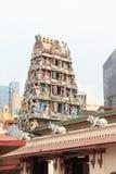 Gopuram tower of Sri Mariamman Temple in Singapore Stock Photography