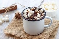 gorące czekoladowych pianki fotografia stock