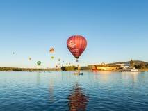 Gorące Powietrze balony Canberra zdjęcie stock