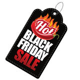 Gorąca Black Friday sprzedaży etykietka Zdjęcia Royalty Free