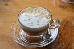 gorąca cappuccino filiżanka Fotografia Stock