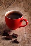Gorąca czekolada i czekolada kawałki Zdjęcia Royalty Free