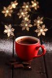 Gorąca czekolada i czekolada kawałki Obraz Royalty Free