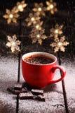Gorąca czekolada i czekolada kawałki Zdjęcie Royalty Free