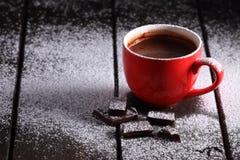 Gorąca czekolada i czekolada kawałki Fotografia Royalty Free