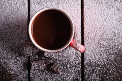 Gorąca czekolada i czekolada kawałki Obraz Stock