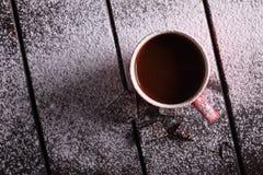 Gorąca czekolada i czekolada kawałki Zdjęcie Stock