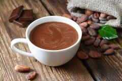 gorąca czekoladowa filiżanka zdjęcie stock