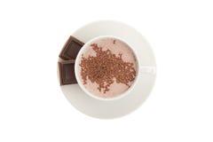 gorąca czekoladowa filiżanka Zdjęcie Royalty Free