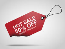 Gorąca dylowa sprzedaży etykietka ilustracja wektor