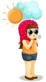 gorąca dziewczyny pogoda ilustracja wektor