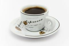 gorąca filiżanki kawa espresso Obraz Stock