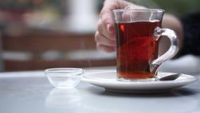 Gorąca herbata zdjęcie wideo