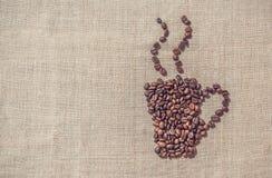 gorąca kawa Dekoracyjny tło dla menu Zdjęcie Stock