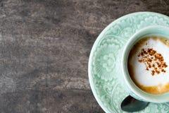 Gorąca kawa, Gorący cappuccino, Gorąca kawa espresso, Czarna herbata, czarny coff Zdjęcia Stock