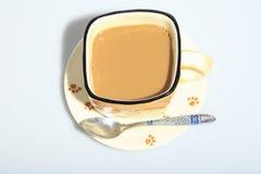 Gorąca kawa w filiżance obrazy royalty free