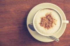 Gorąca latte sztuki kawa (Filtrujący wizerunek przetwarzający rocznik Zdjęcia Stock