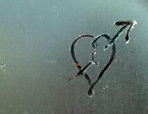 Gorąca miłość na zimnej powierzchni Obrazy Stock