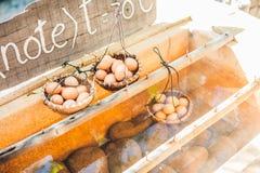 Gorąca naturalna podziemna termiczna woda używa gotować się kurczaków jajka w niektóre powulkanicznej aktywności terenie Obraz Stock