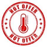 Gorąca oferty pieczątka ilustracja wektor