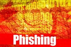 gorąca online phishing securi sieci royalty ilustracja