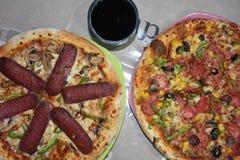 gorąca pizza obraz royalty free