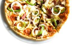 gorąca pizza jest wegetarianką Zdjęcia Stock