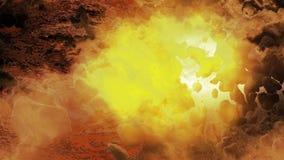 Gorąca planeta - asteroidy pole zdjęcie wideo