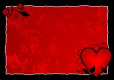gorąca serca czerwone tło Fotografia Stock