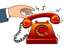 Gorąca stara telefonu wystrzału sztuki wektoru ilustracja Zdjęcia Royalty Free
