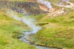 gorąca wiosna w Hveragerdi Gorącej wiosny Rzecznym śladzie Obraz Royalty Free