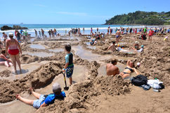 Gorąca Woda Bech, Nowa Zelandia - Zdjęcie Stock