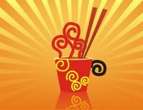 gorące chopstick noodles czerwone Zdjęcie Stock