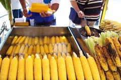 Gorące kukurudze zdjęcie royalty free