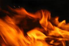 gorące pożarowe języków Obraz Stock