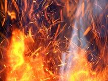 gorące pożarowe języków Zdjęcie Stock