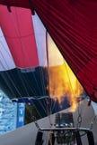 Gorące Powietrze balonów palnika płomień zdjęcia stock
